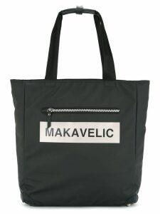 Makavelic Ludos box logo tote - Black