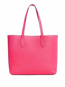 Burberry logo embossed tote - Pink