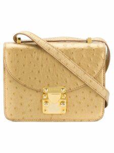 Fendi Pre-Owned foldover crossbody bag - Metallic