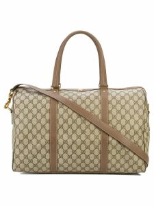 Gucci Pre-Owned GG supreme duffle bag - Brown