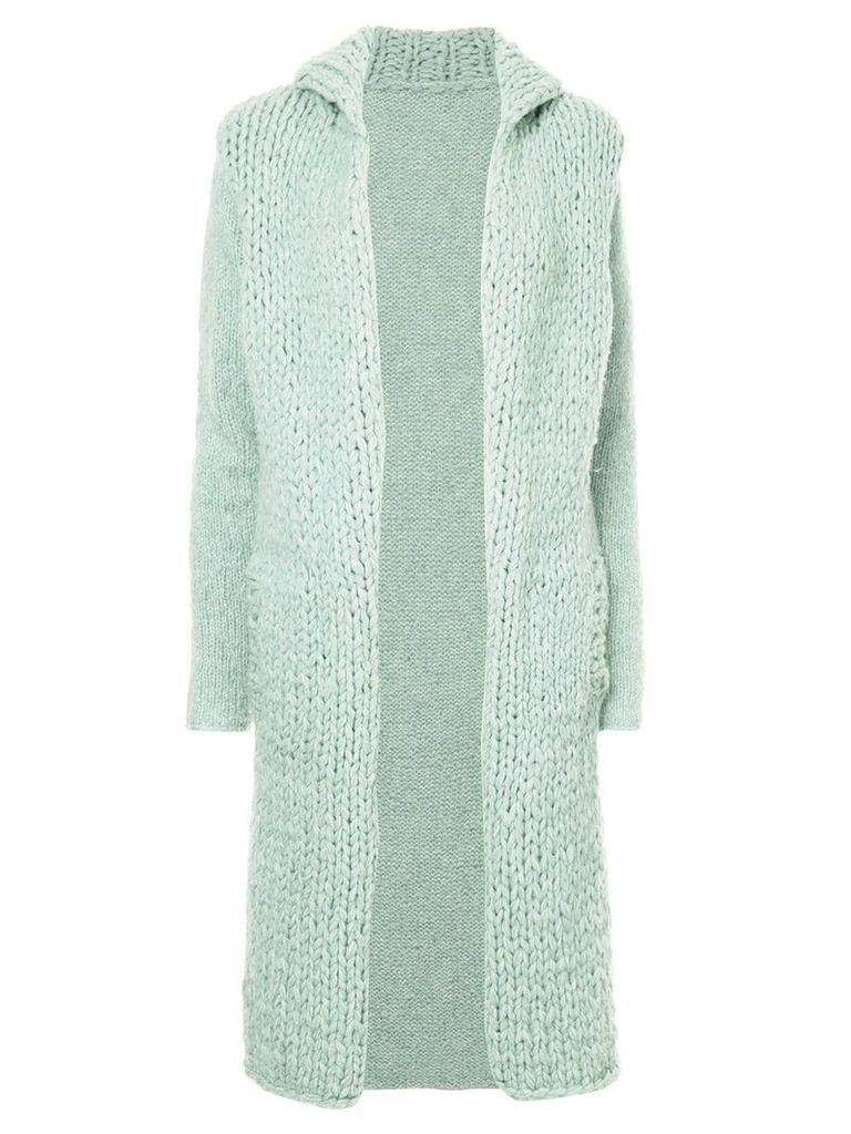 Yohji Yamamoto Pre-Owned open-front cardi coat - Blue
