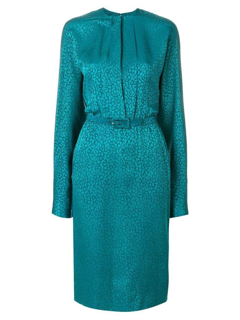 Jean Louis Scherrer Vintage belted dress - Green