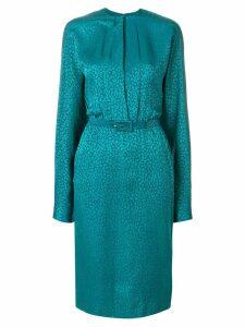 Jean Louis Scherrer Pre-Owned belted dress - Green