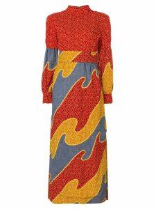 William Vintage Bonwit Teller printed dress - Red