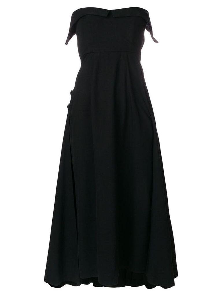 William Vintage strapless flared dress - Black