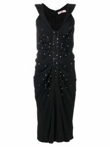 Christian Dior Pre-Owned embellished ruched dress - Black