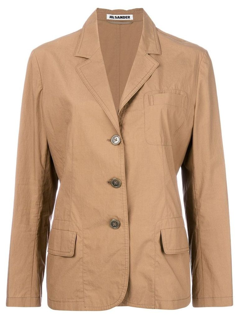 Jil Sander Pre-Owned single breasted blazer - Brown