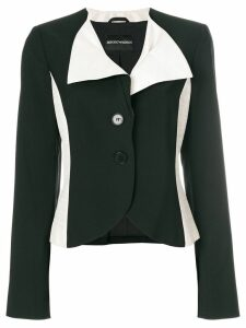 Giorgio Armani Pre-Owned color block blazer - Black