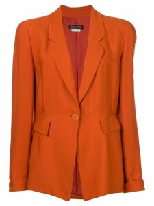 Giorgio Armani Pre-Owned structured blazer - Orange