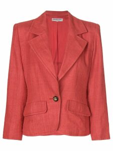 Yves Saint Laurent Pre-Owned structured distressed blazer