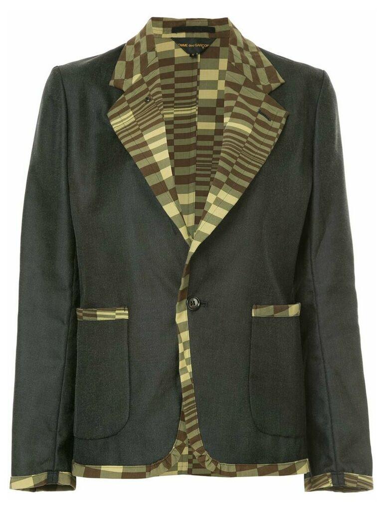 Comme Des Garçons Vintage printed-panel slim-fit blazer - Grey