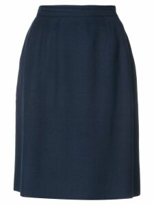 Yves Saint Laurent Pre-Owned high rise straight skirt - Blue