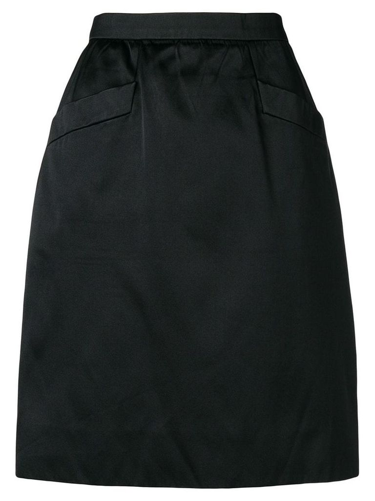 Yves Saint Laurent Vintage high rise straight skirt - Black