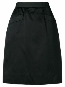Yves Saint Laurent Pre-Owned high rise straight skirt - Black