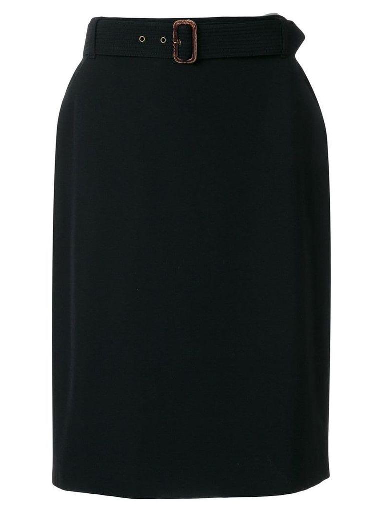 Jean Paul Gaultier Vintage belted skirt - Black