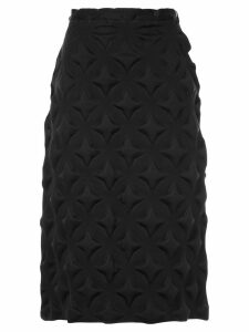 Issey Miyake Pre-Owned textured pencil skirt - Black
