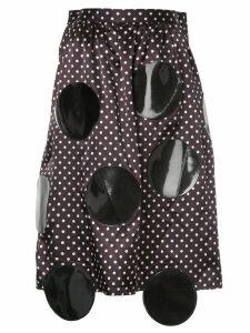 Junya Watanabe Comme Des Garçons Pre-Owned appliquéd polka-dot skirt -