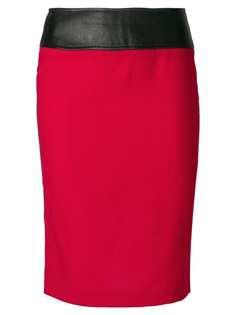 Dolce & Gabbana Vintage high-waisted tube skirt - Red
