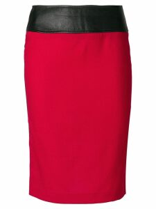 DOLCE & GABBANA PRE-OWNED high-waisted tube skirt - Red