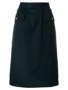 CHANEL PRE-OWNED A-line midi skirt - Blue