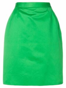 Yves Saint Laurent Pre-Owned high-waisted pencil skirt - Green