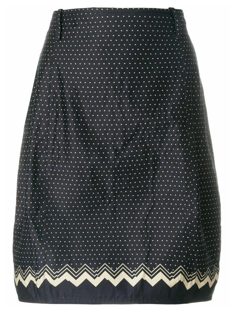 Versace Vintage polka-dot tulip skirt - Blue