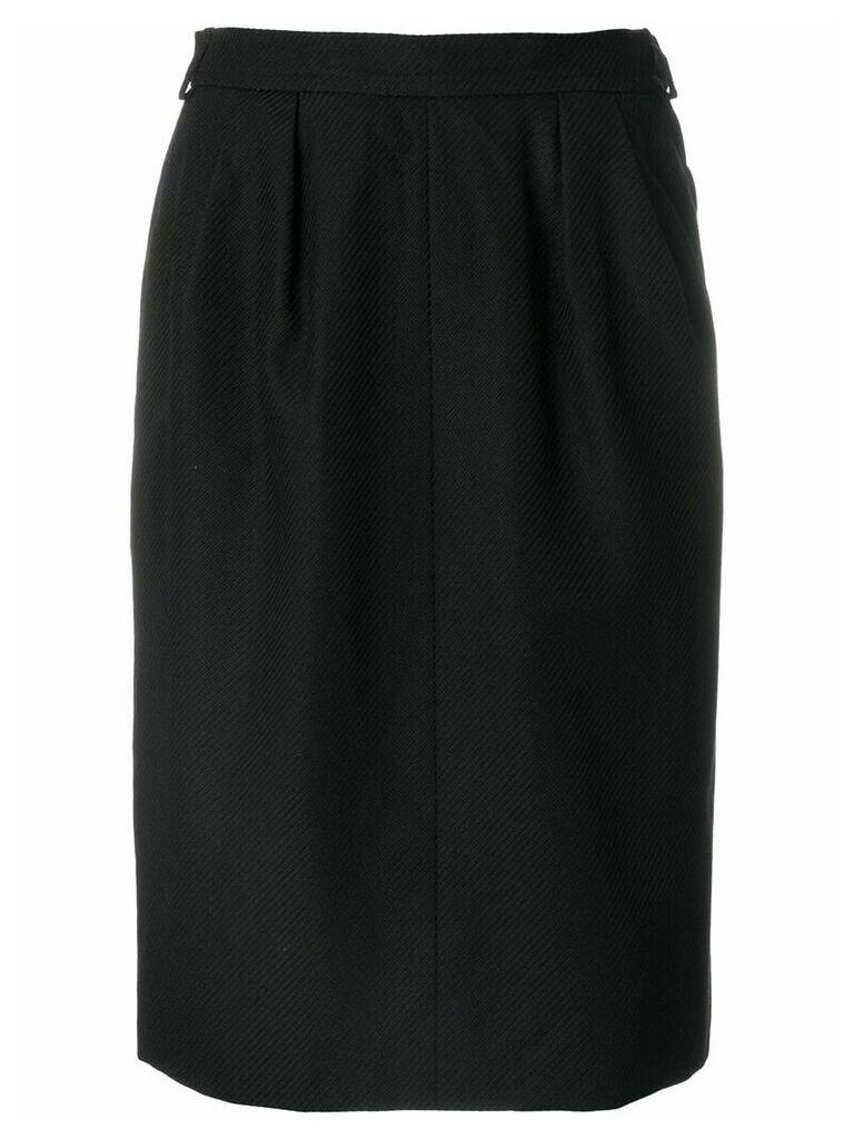Yves Saint Laurent Pre-Owned high-waisted tulip skirt - Black
