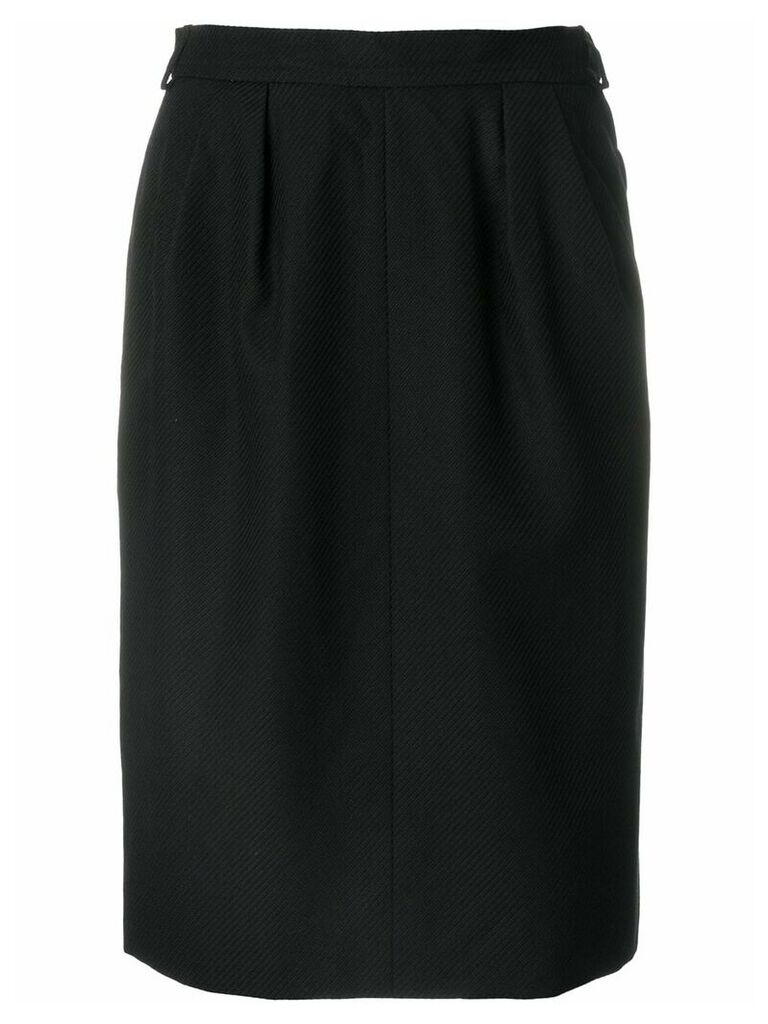 Yves Saint Laurent Vintage high-waisted tulip skirt - Black