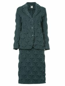 ISSEY MIYAKE PRE-OWNED star imprint skirt suit - Green