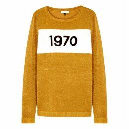 BELLA FREUD 1970 Gold Fine-knit Jumper