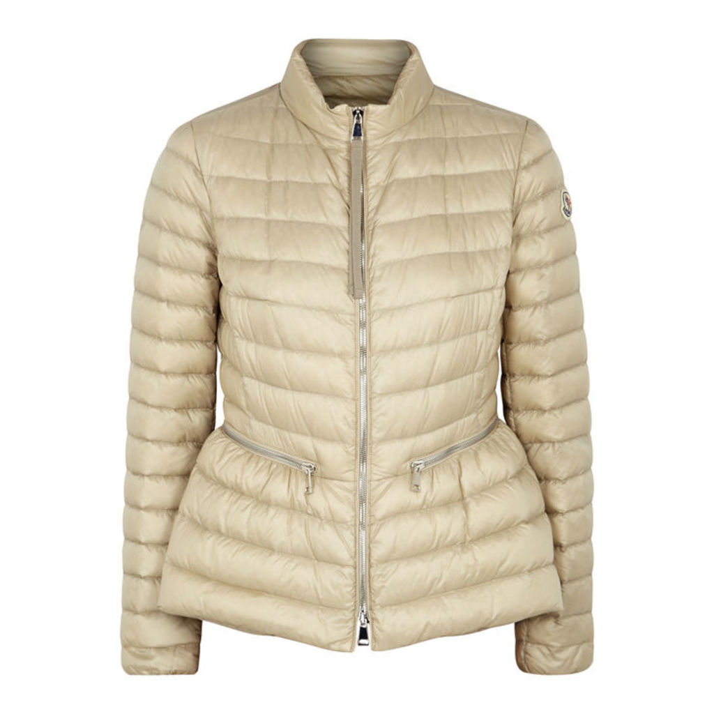 Moncler Agate Ecru Quilted Shell Jacket