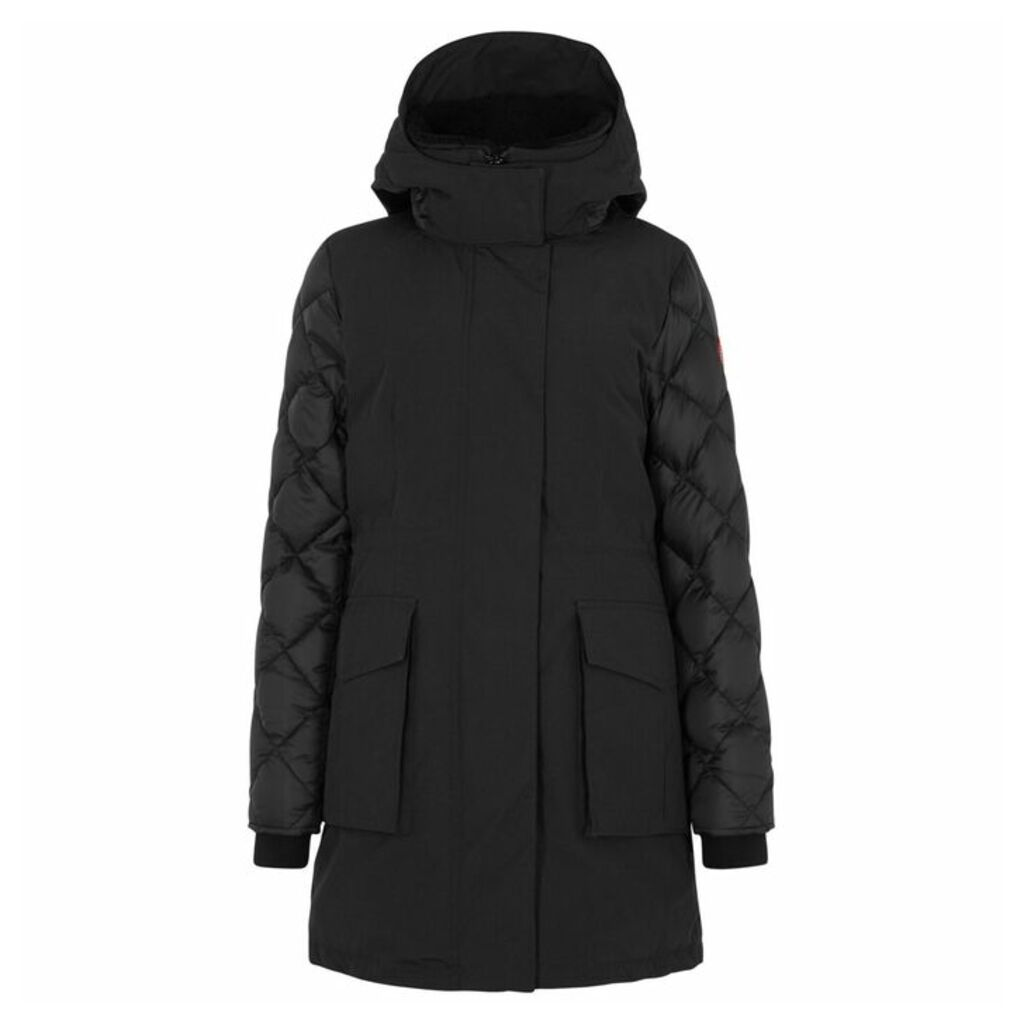 Canada Goose Elwin Shearling-trimmed Shell Coat