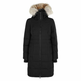 Canada Goose Pembina Black Fur-trimmed Coat