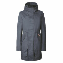 Hunter Womens Original Cotton Hunting Coat Grey