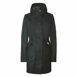 Hunter Womens Original Cotton Hunting Coat Black
