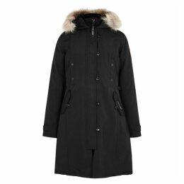 Canada Goose Kensington Black Fur-trimmed Parka