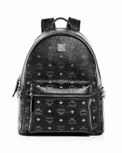 Mcm Visetos Small/Medium Stark Studded Backpack