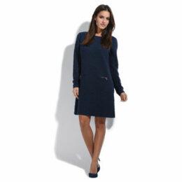 For Her Paris  Dress  women's Long Dress in Blue