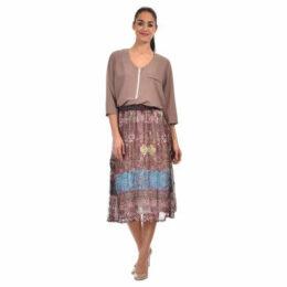 For Her Paris  Skirt  women's Skirt in Blue