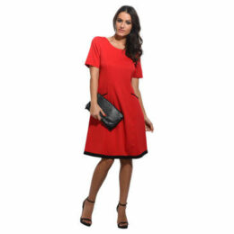 For Her Paris  Dress  women's Dress in Red