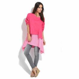 100 % Lin  Tunic  women's Tunic dress in Pink
