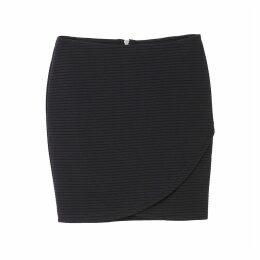 Ribbed Wrap Skirt