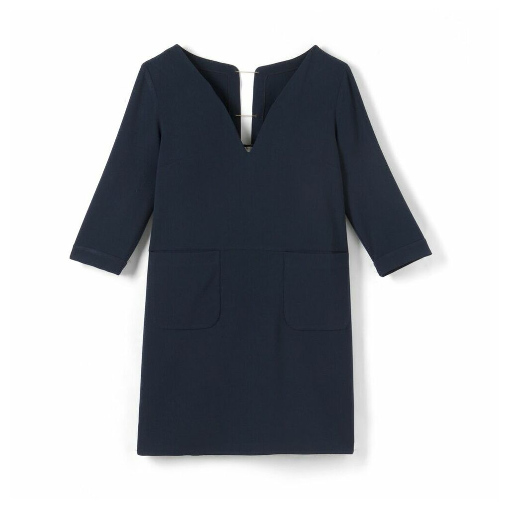 3/4 Sleeve Dress Open at Back