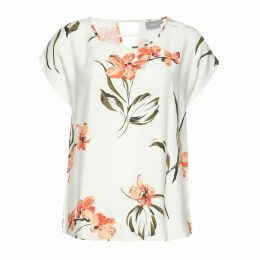 Short-Sleeved Printed Blouse