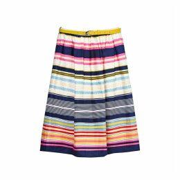Knee-Length Striped Skirt