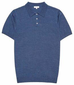 Reiss Manor - Merino Wool Polo Shirt in Indigo, Mens, Size XXL