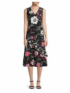 Mixed Printed Ruffle Dress