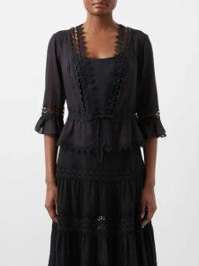 Stella Jean - Contrast Striped Knit Polo Shirt - Womens - Blue