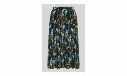 Iris Print Pleated Skirt