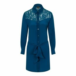 Sophie Cameron Davies - Teal Classic Silk Dress